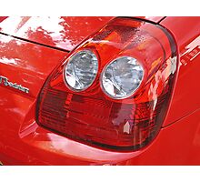 Red Sports Car Detail Photographic Print