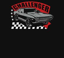 Dodge Challenger | Grey - Red - White Unisex T-Shirt