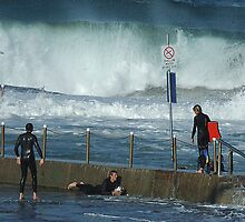 Turmoil - Mona Vale Beach Pool, Sydney,AUSTRALIA by Philip Johnson