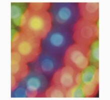 Abstract shiny background with colorful bokeh lights One Piece - Short Sleeve