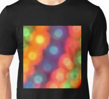 Abstract shiny background with colorful bokeh lights Unisex T-Shirt
