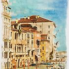 Grand Canal Venice (watercolour) by Stephen Knowles