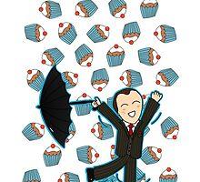 Mycroft Loves Cake - Phone Cases by aliciacreates