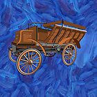 Daimler 6hp Six-seat Brake 1897 - all products bar duvet by Dennis Melling