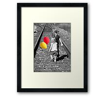 On The Right Track Framed Print