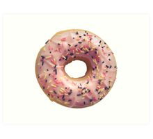 Isolated Pastel Pink Donut Art Print