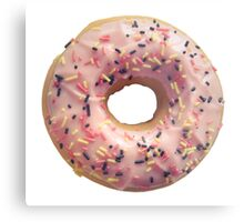 Isolated Pastel Pink Donut Metal Print