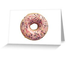 Isolated Pastel Pink Donut Greeting Card