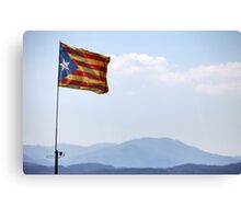 freedom flag of Catalonia Canvas Print