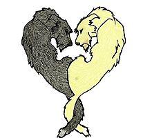 Irish Wolfhound Heart  by Gintaro7