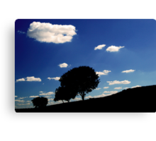 family of trees  Canvas Print