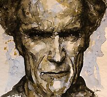 Clint Eastwood watercolor by lauiduc