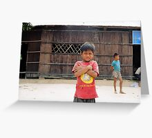 Cambodian Child Greeting Card