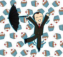 Mycroft Loves Cake - Travel Mugs/Print, Cards & Posters/Duvets/Tablet Cases by aliciacreates