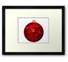 Chrismas Ball Earth Framed Print