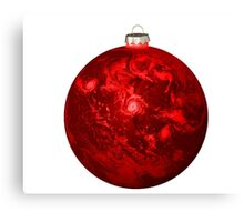 Chrismas Ball Earth Canvas Print
