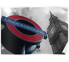 Big Ben and Underground Poster