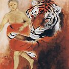 Tiger and Human by Alva
