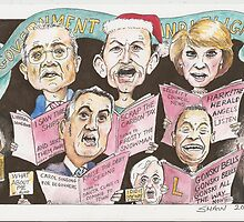 End of year card 2013 - Government by Candlelight by Gary Shaw