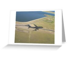 In Plane View Greeting Card