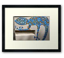 Graffiti Gecko Framed Print