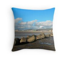 PORT TALBOT PIER Throw Pillow