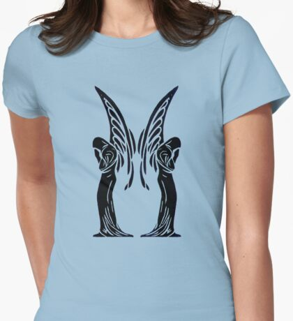 Standing Angels Womens Fitted T-Shirt