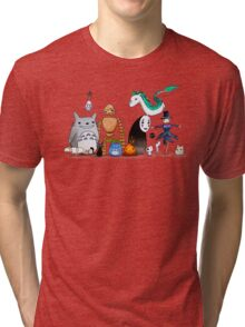 Ghibli Friends  Tri-blend T-Shirt