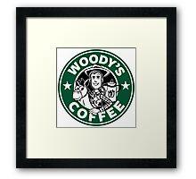 Woody's Coffee Framed Print