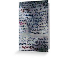 WORDS II Greeting Card
