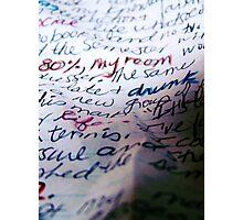 WORDS III Photographic Print