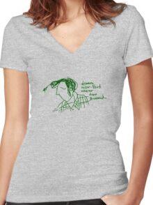 'Dreamy Miller Shirt wearer from Brunswick' Women's Fitted V-Neck T-Shirt