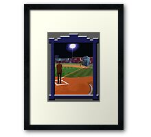Dr. Who's on First Base Framed Print