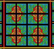 ORGANIC ART TILE PATTERN gifts and decor by ackelly4
