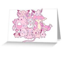 Cute pink Pokemon Greeting Card