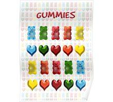 Gummy Bears, Jelly Hearts Poster