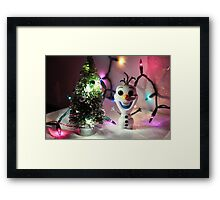 Olaf Christmas Framed Print