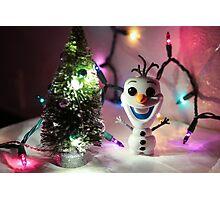 Olaf Christmas Photographic Print