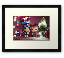 Christmas with Marty and Doc Framed Print