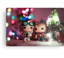Christmas with Marty and Doc Metal Print