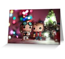 Christmas with Marty and Doc Greeting Card