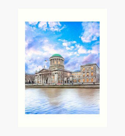 Irish Four Courts In Historic Dublin Ireland Art Print