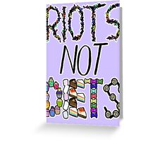 Riots Not Diets Feminist Slogan Greeting Card