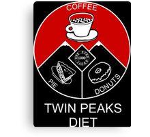 Twin Peaks Diet Canvas Print