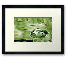 Bubble Framed Print
