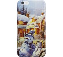 Father & Son Snowman  iPhone Case/Skin
