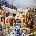 Father & Son Snowman  by Susan S. Kline
