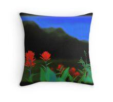 Alberta Flowers Throw Pillow