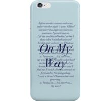 On My Way- Violet iPhone Case/Skin