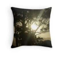 sunset bruny island Throw Pillow